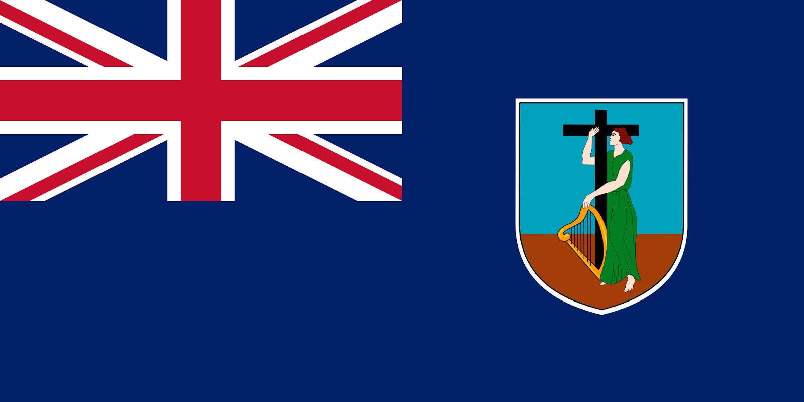 Flag with British and Irish emblems